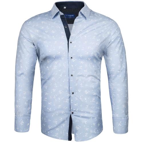 eae0c025e6 Koszule i marynarki - Koszula męska slim niebieska Recea - Recea.pl ...