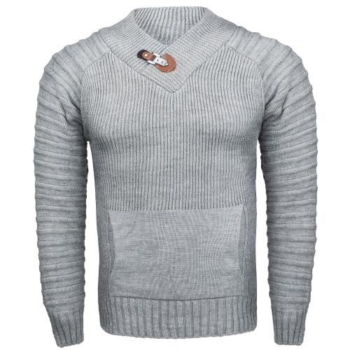 e9f80bd36cae Bluzy i swetry - Sweter męski z stójką szary Recea - Recea.pl sklep ...