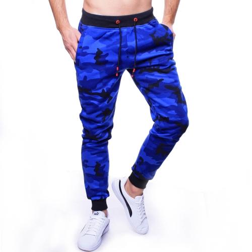 Spodnie męskie dresowe niebieskie moro Recea
