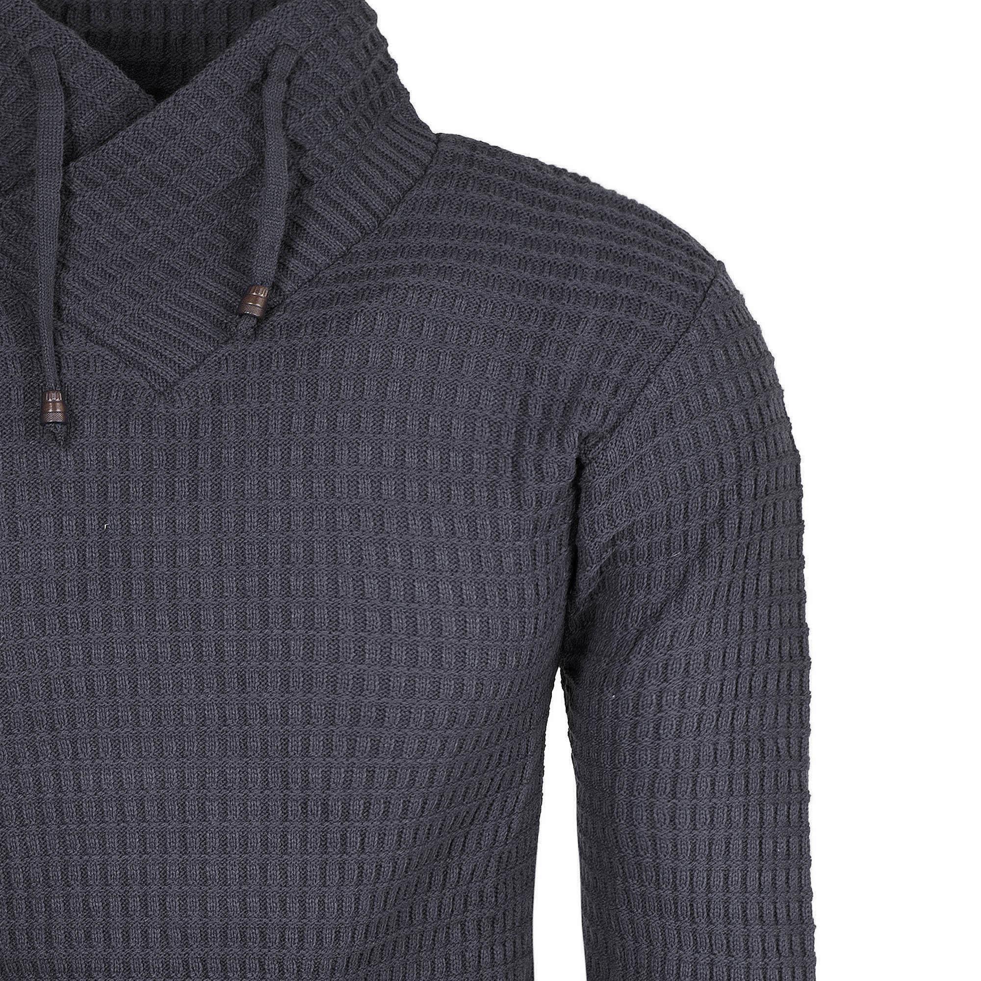 9980de1e18d2 Bluzy i swetry - Sweter męski z stójką czarny Recea - Recea.pl sklep ...