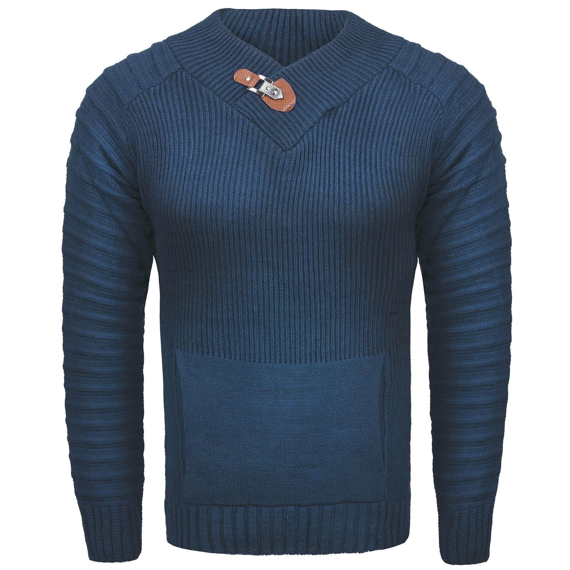 37e721e16549 Bluzy i swetry - Sweter męski z stójką zielony Recea - Recea.pl ...
