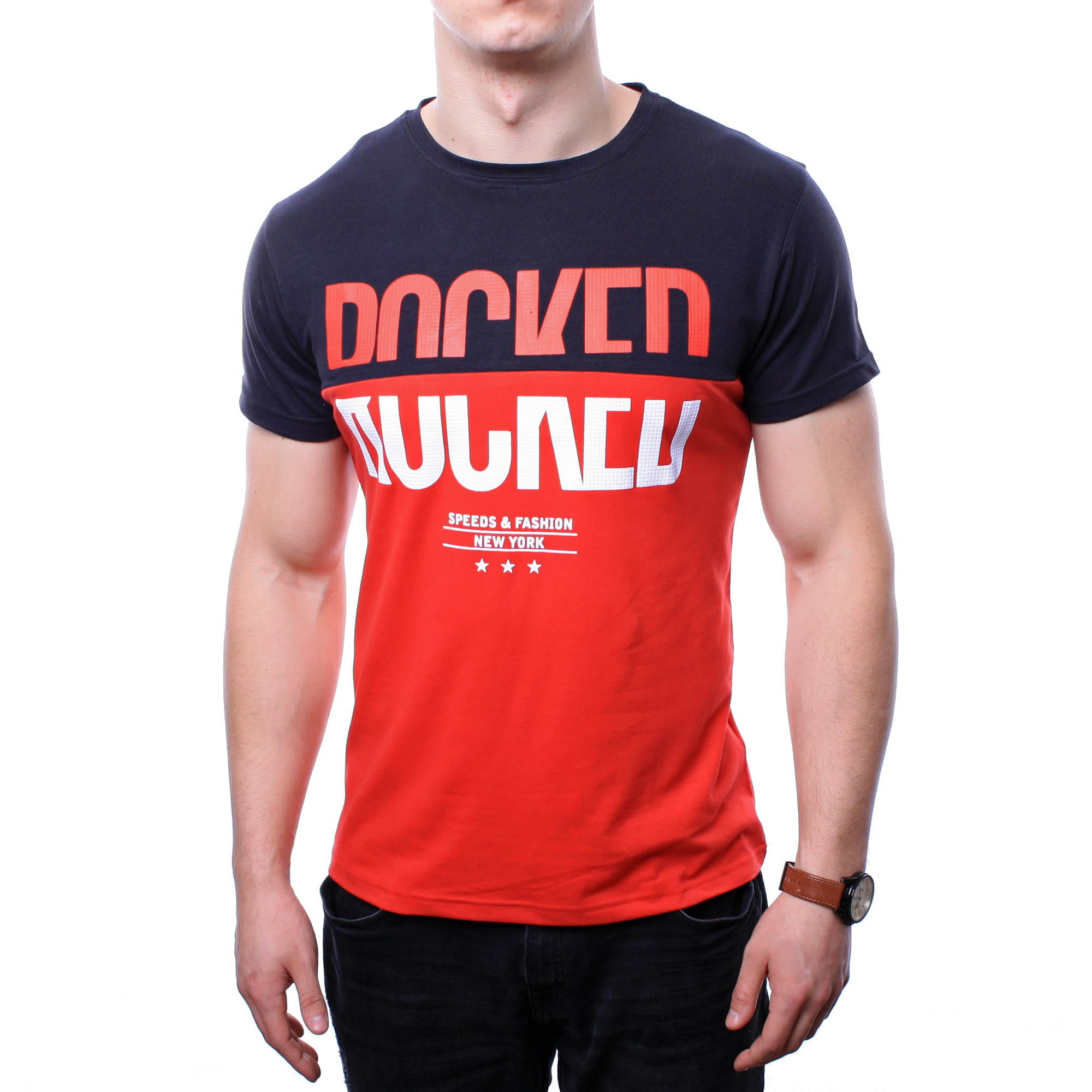 71f26fcaf2fdf0 Koszulki z nadrukiem - Koszulka męska t-shirt czerwony Recea - Recea ...