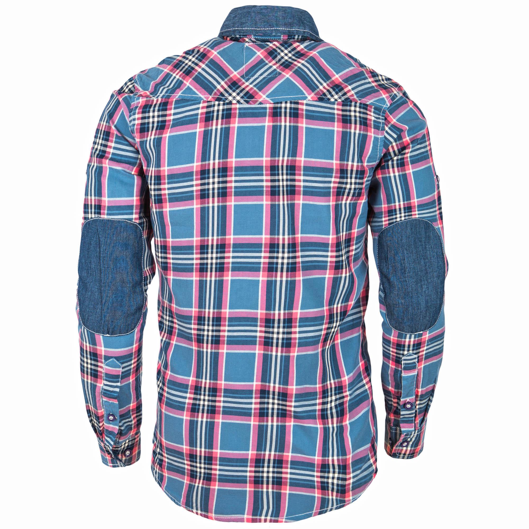 ba1a851949208 Koszule i marynarki - Koszula męska w kratę granatowa Recea - Recea ...